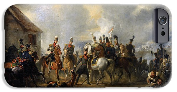 19th Century Photographs iPhone Cases - The Battle Of Bautersem During The Ten Days Campaign, 1833, By Nicolaas Pieneman 1809-1860 iPhone Case by Bridgeman Images