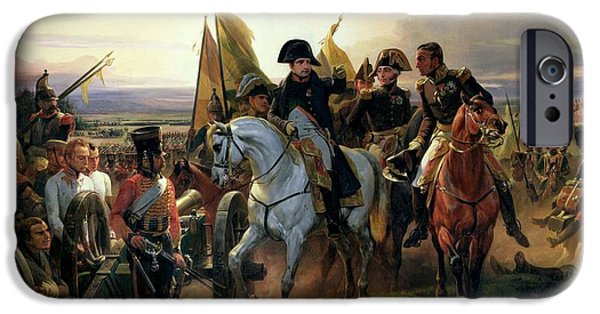 Wounded iPhone Cases - The Battle Of Friedland, 14th June 1807 Oil On Canvas iPhone Case by Emile Jean Horace Vernet