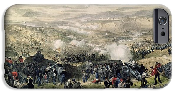 Strategy iPhone Cases - The Battle Of Inkerman, 5th November 1854, 1855 Colour Litho iPhone Case by Andrew Maclure