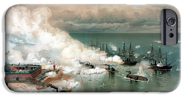 Battleship iPhone Cases - The Battle Of Mobile Bay iPhone Case by War Is Hell Store