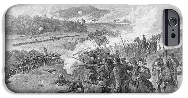 Confederate Flag iPhone Cases - The Battle Of Resaca, Georgia, May 14th 1864, Illustration From Battles And Leaders Of The Civil iPhone Case by Alfred R. Waud