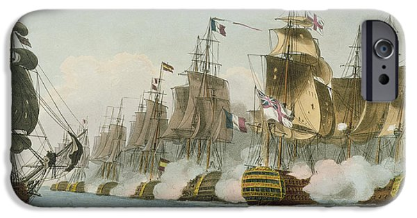 Smoke iPhone Cases - The Battle of Trafalgar iPhone Case by Thomas Whitcombe