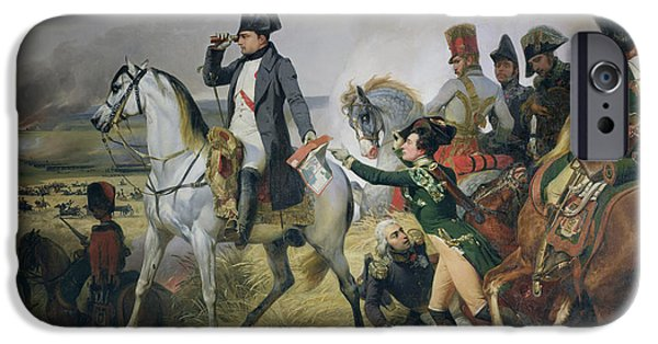 Messenger iPhone Cases - The Battle Of Wagram, 6th July 1809, 1836 Oil On Canvas iPhone Case by Emile Jean Horace Vernet