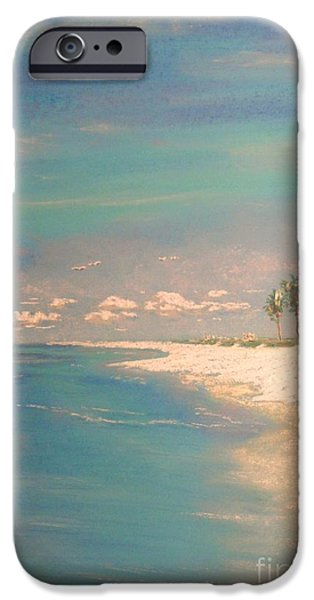 Beach Landscape Pastels iPhone Cases - The Bay iPhone Case by The Beach  Dreamer