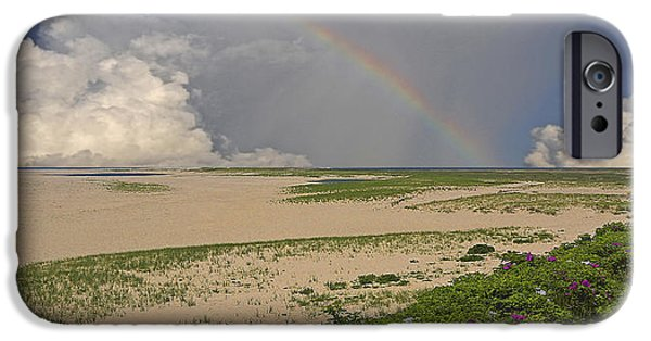 Storm Clouds Cape Cod iPhone Cases - The Beach at Chatham iPhone Case by Phil Jensen