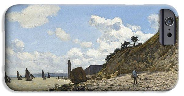 The Beach iPhone Cases - The Beach At Honfleur iPhone Case by Claude Monet