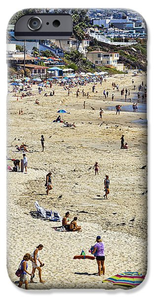 The Beach at Laguna iPhone Case by Kelley King