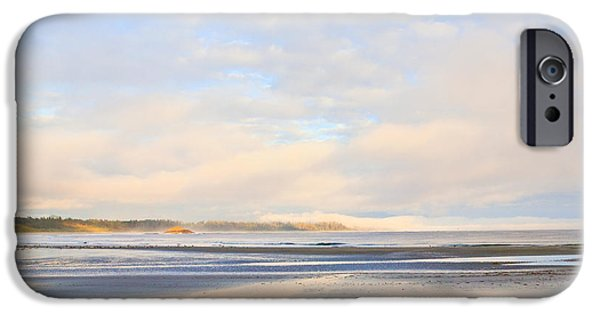 Seagull iPhone Cases - The Beach At Tofino iPhone Case by Theresa Tahara