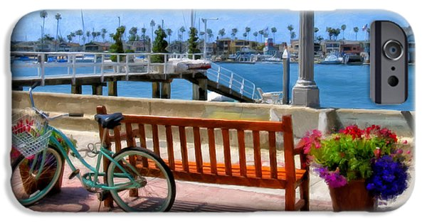 Newport iPhone Cases - The Beach Cruiser iPhone Case by Michael Pickett