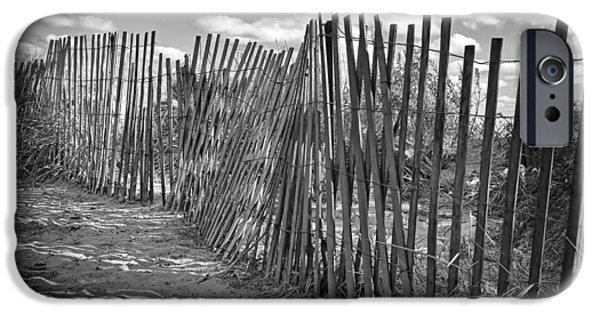 Sand Fences iPhone Cases - The Beach Fence iPhone Case by Scott Norris