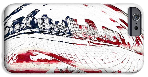 Us Capital Mixed Media iPhone Cases - The Bean - American Icon iPhone Case by Celestial Images