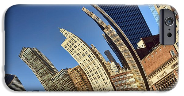Stainless Steel iPhone Cases - The Bean #1 - Cloud Gate - Chicago iPhone Case by Nikolyn McDonald