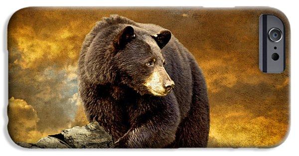 Lois Bryan Digital iPhone Cases - The Bear Went Over The Mountain iPhone Case by Lois Bryan