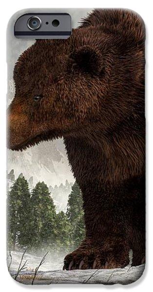 The Bear Woman iPhone Case by Daniel Eskridge