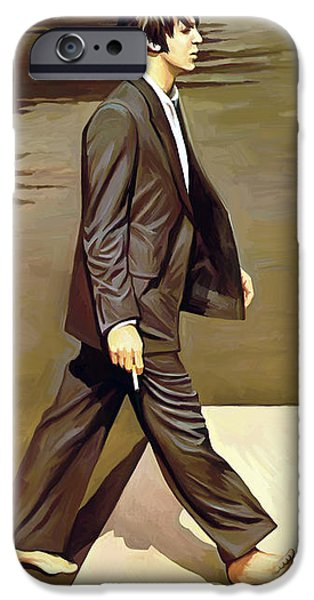 Musician Art iPhone Cases - The Beatles Abbey Road Artwork Part 2 of 4 iPhone Case by Sheraz A