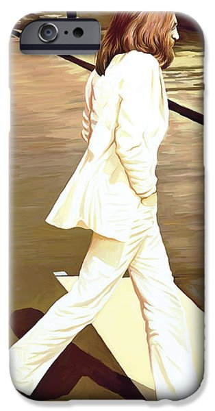 Musician Art iPhone Cases - The Beatles Abbey Road Artwork Part 4 of 4 iPhone Case by Sheraz A
