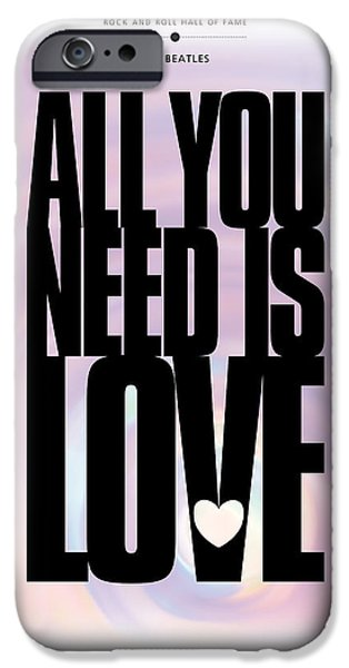 All You Need Is Love Posters iPhone Cases - The Beatles - All You Need Is Love iPhone Case by David Davies