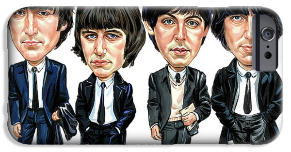 Celebrities Art iPhone Cases - The Beatles iPhone Case by Art