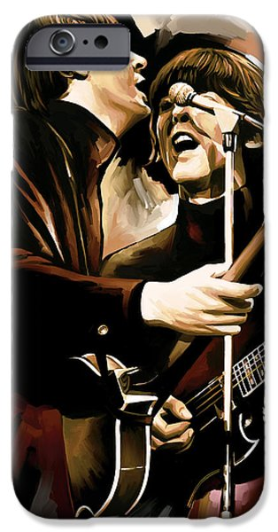 Beatles Mixed Media iPhone Cases - The Beatles Artwork 2 iPhone Case by Sheraz A