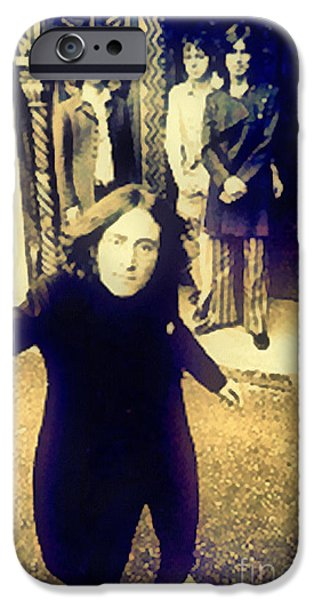 Beatles iPhone Cases - The Beatles - Camera Adjustment iPhone Case by Paulette B Wright