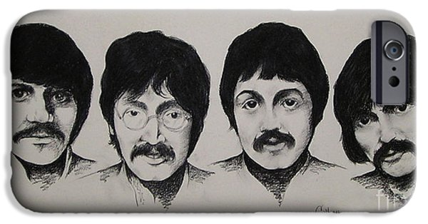 Mccartney Drawings iPhone Cases - The Beatles iPhone Case by Catherine Howley
