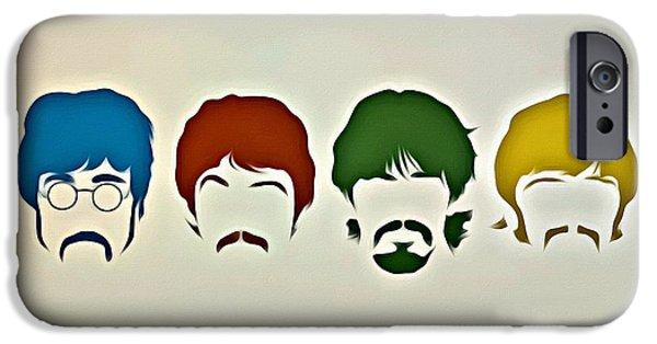 Beatles iPhone Cases - The Beatles iPhone Case by Florian Rodarte