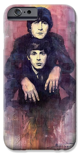 The Beatles John Lennon and Paul McCartney iPhone Case by Yuriy  Shevchuk