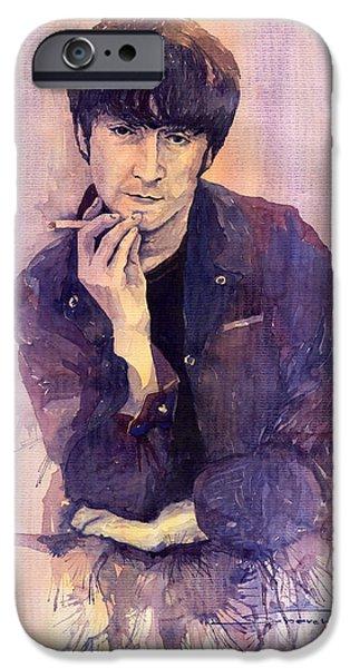 The Beatles John Lennon iPhone Case by Yuriy  Shevchuk