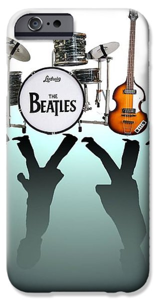 The Beatles iPhone Case by Lena Day