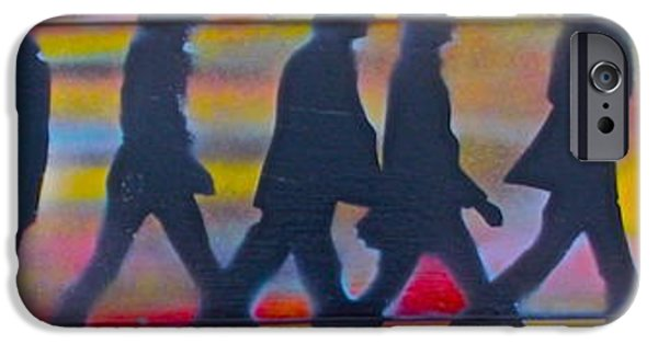 Beatles iPhone Cases - The Beatles Long Wood iPhone Case by Tony B Conscious