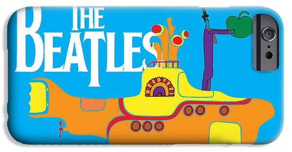 Beatles Digital Art iPhone Cases - The Beatles No.11 iPhone Case by Caio Caldas