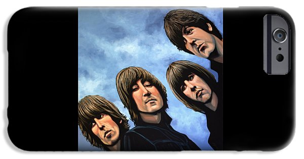 Soul iPhone Cases - The Beatles Rubber Soul iPhone Case by Paul Meijering