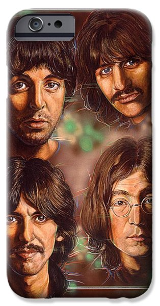 Beatles iPhone Cases - The Beatles iPhone Case by Tim  Scoggins