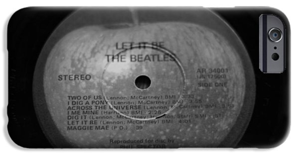 Abbey Road iPhone Cases - The Beatles Vinyl Let It Be iPhone Case by Dan Sproul