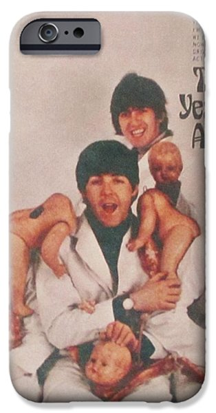 The Beatles Yesterday and Today Butcher Album Cover iPhone Case by Donna Wilson