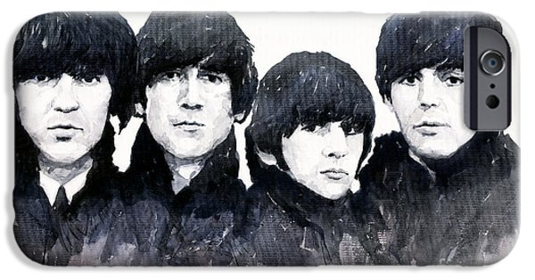Beatle iPhone Cases - The Beatles iPhone Case by Yuriy  Shevchuk
