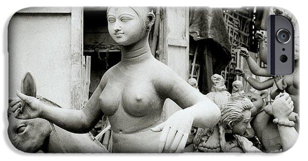 Hindu Goddess iPhone Cases - The Beautiful Idol iPhone Case by Shaun Higson