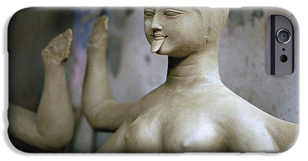 Hindu Goddess iPhone Cases - The Beautiful Kali iPhone Case by Shaun Higson