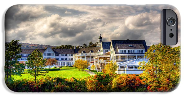 David Patterson iPhone Cases - The Beautiful Sagamore Hotel on Lake George iPhone Case by David Patterson