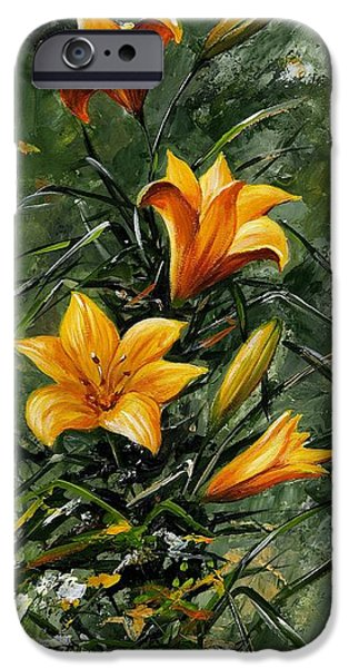 Artificial Flowers iPhone Cases - The beauty flower 06 iPhone Case by Emerico Imre Toth