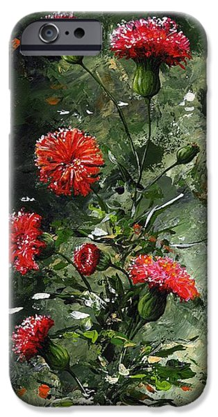 Artificial Flowers iPhone Cases - The beauty flower 08 iPhone Case by Emerico Imre Toth