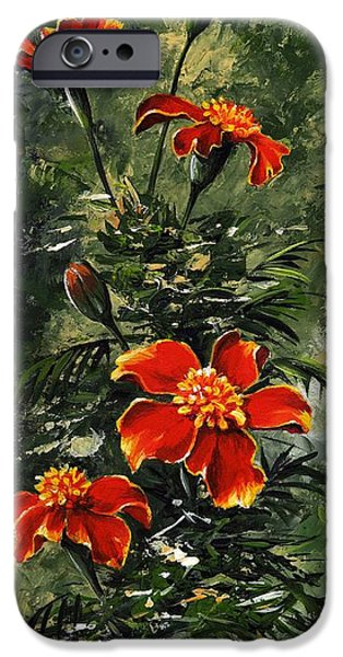 Forest iPhone Cases - The beauty flower #10 iPhone Case by Emerico Imre Toth