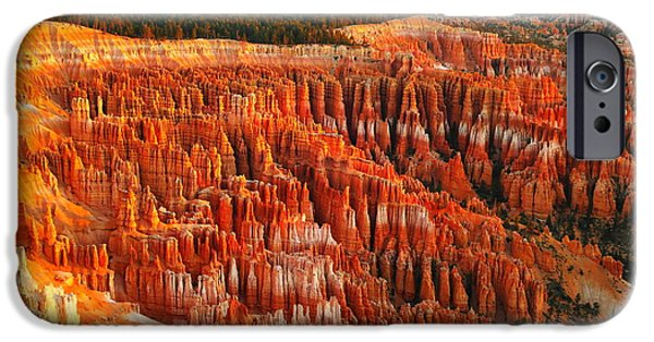 Morning iPhone Cases - The Beauty Of Bryce Canyon In The Morning iPhone Case by Jeff  Swan
