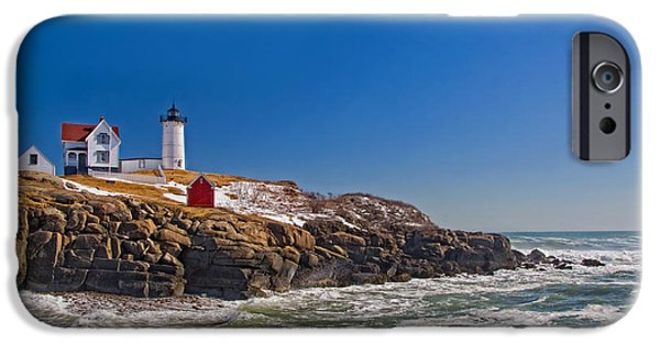 New England Lighthouse iPhone Cases - The Beauty of Nubble iPhone Case by Joann Vitali