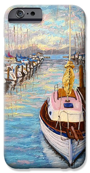 Sausalito iPhone Cases - The beauty of Sausalito  iPhone Case by Francesca Kee