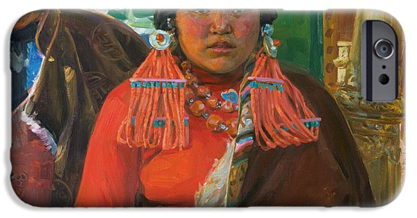 Tibet iPhone Cases - The beauty iPhone Case by Victoria Kharchenko