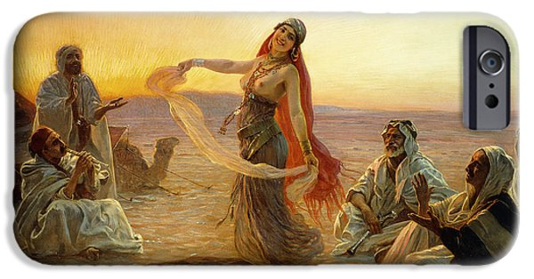 Mid Adult iPhone Cases - The Bedouin Dancer iPhone Case by Otto Pilny