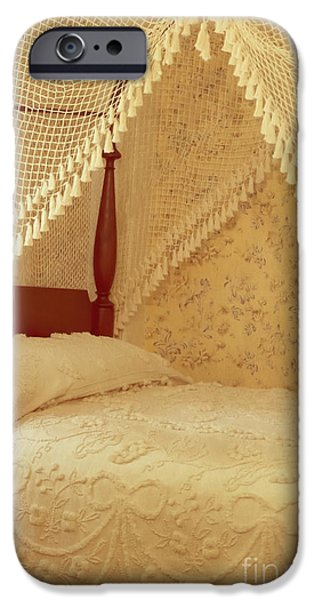 Netting iPhone Cases - The Bedroom iPhone Case by Edward Fielding