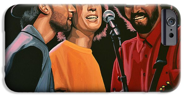Performers iPhone Cases - The Bee Gees iPhone Case by Paul  Meijering