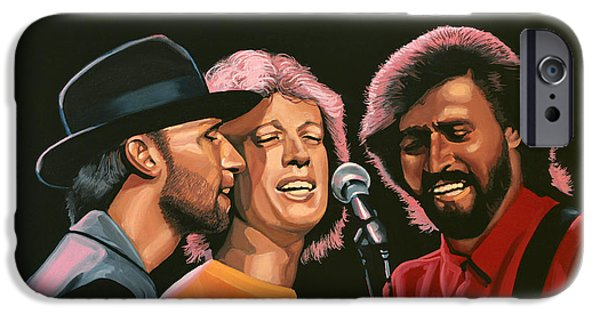 People iPhone Cases - The Bee Gees iPhone Case by Paul Meijering